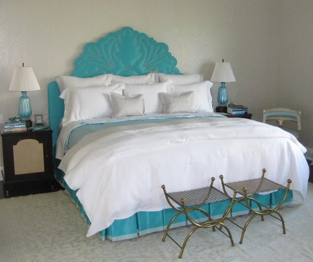 Bed beautification how to revamp your headboard relate for Painted on headboard