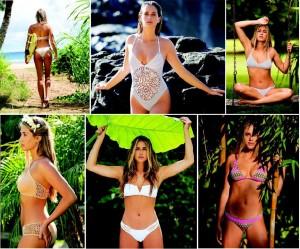 Francesca modeling her Spring Collection